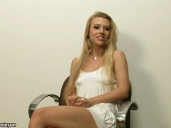 Michelle Moist enjoys another masturbation session after stripping